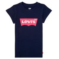 Textiel Meisjes T-shirts korte mouwen Levi's BATWING TEE Marine
