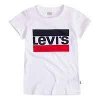 Textiel Meisjes T-shirts korte mouwen Levi's SPORTSWEAR LOGO TEE Wit