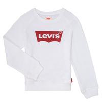 Textiel Meisjes Sweaters / Sweatshirts Levi's KEY ITEM LOGO CREW Wit