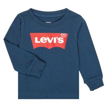 Textiel Jongens T-shirts met lange mouwen Levi's BATWING TEE LS Marine