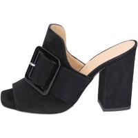 Schoenen Dames Leren slippers Broccoli BP304 Noir