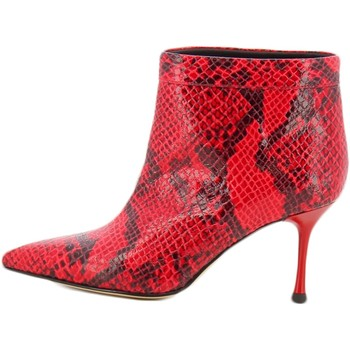 Schoenen Dames pumps Sgn Giancarlo Paoli SNAKE ROSSO STIVALETTO Rood