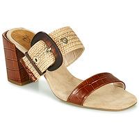 Schoenen Dames Leren slippers Fericelli MARCO Beige