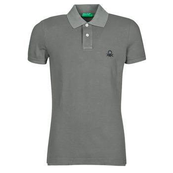Textiel Heren Polo's korte mouwen Benetton  Grijs