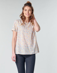 Textiel Dames Tops / Blousjes Benetton DANIEL Wit / Multicolour