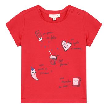 Textiel Meisjes T-shirts korte mouwen Catimini MUSIKOU Rood