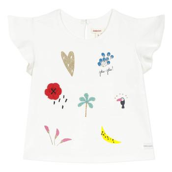 Textiel Meisjes T-shirts korte mouwen Catimini NADEGE Wit