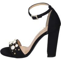 Schoenen Dames Sandalen / Open schoenen Olga Rubini Sandales BP356 Noir