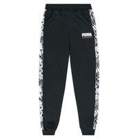 Textiel Jongens Trainingsbroeken Puma ALPHA SWEAT PANT BOY Zwart