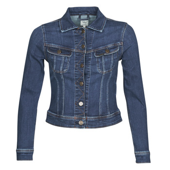 Textiel Dames Spijker jassen Lee SLIM RIDER JACKET Dark / Hunt