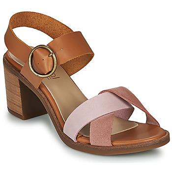 Schoenen Dames Sandalen / Open schoenen Casual Attitude MEL  camel / Roze
