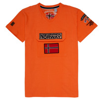 Textiel Jongens T-shirts korte mouwen Geographical Norway JIRI Orange