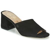 Schoenen Dames Leren slippers Betty London MELIDA Zwart