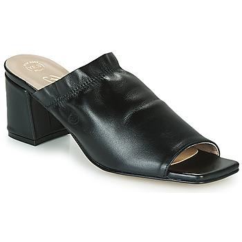 Schoenen Dames Leren slippers Betty London MIRTO Zwart