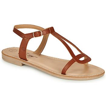 Schoenen Dames Sandalen / Open schoenen Betty London MISSINE Cognac