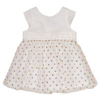 Textiel Meisjes Korte jurken Petit Bateau FAVORITE Wit / Goud
