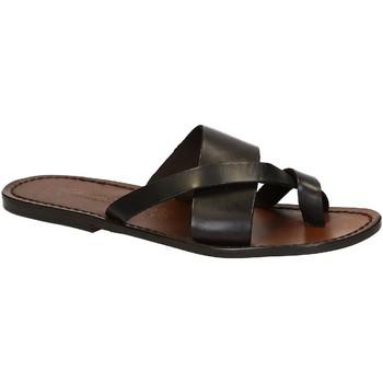 Schoenen Heren Sandalen / Open schoenen Gianluca - L'artigiano Del Cuoio 545 U MORO CUOIO Testa di Moro