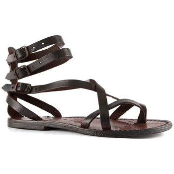 Schoenen Dames Sandalen / Open schoenen Gianluca - L'artigiano Del Cuoio 564 D MORO CUOIO Testa di Moro
