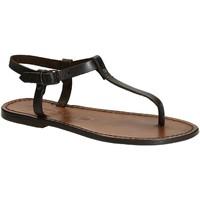 Schoenen Dames Sandalen / Open schoenen Gianluca - L'artigiano Del Cuoio 532 D MORO CUOIO Testa di Moro