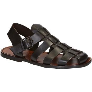 Schoenen Heren Sandalen / Open schoenen Gianluca - L'artigiano Del Cuoio 502 U MORO CUOIO Testa di Moro