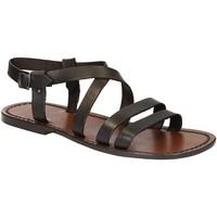 Schoenen Heren Sandalen / Open schoenen Gianluca - L'artigiano Del Cuoio 531 U MORO CUOIO Testa di Moro