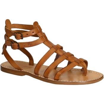 Schoenen Dames Sandalen / Open schoenen Gianluca - L'artigiano Del Cuoio 506 D CUOIO CUOIO Cuoio