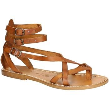 Schoenen Dames Sandalen / Open schoenen Gianluca - L'artigiano Del Cuoio 564 D CUOIO CUOIO Cuoio