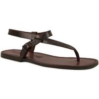 Schoenen Heren Sandalen / Open schoenen Gianluca - L'artigiano Del Cuoio 592 U MORO CUOIO Testa di Moro
