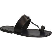 Schoenen Heren Slippers Gianluca - L'artigiano Del Cuoio 554 U NERO CUOIO nero