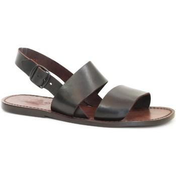 Schoenen Dames Sandalen / Open schoenen Gianluca - L'artigiano Del Cuoio 500X U MORO CUOIO Testa di Moro