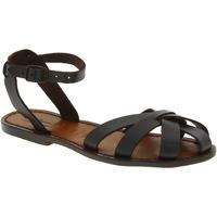 Schoenen Dames Sandalen / Open schoenen Gianluca - L'artigiano Del Cuoio 503 D MORO CUOIO Testa di Moro