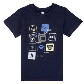 Textiel Jongens T-shirts korte mouwen Esprit ENZIEO Marine