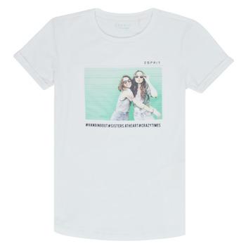 Textiel Meisjes T-shirts korte mouwen Esprit ELISH Wit