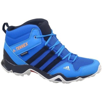 Schoenen Kinderen Wandelschoenen adidas Originals Terrex AX2R Mid CP Bleu, Turquoise