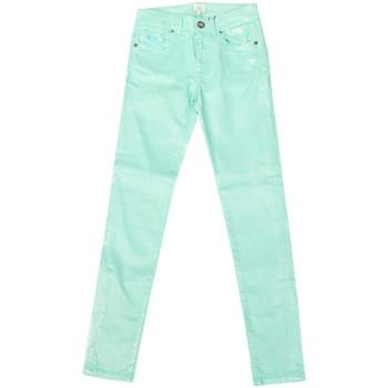 Textiel Dames Straight jeans La Martina Pantalon stretch Groen