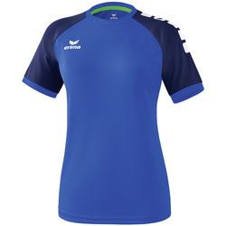 Textiel Dames T-shirts korte mouwen Erima Maillot femme  Zenari 3.0 bleu/bleu/vert clair