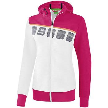 Textiel Kinderen Trainings jassen Erima Veste d'entrainement à capuche enfant blanc/bleu cliar