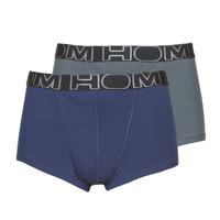 Ondergoed Heren Boxershorts Hom HOM BOXERLINES BOXER BRIEF HO1 PACK X2 Grijs / Marine