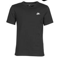 Textiel Heren T-shirts korte mouwen Nike M NSW CLUB TEE Zwart / Wit