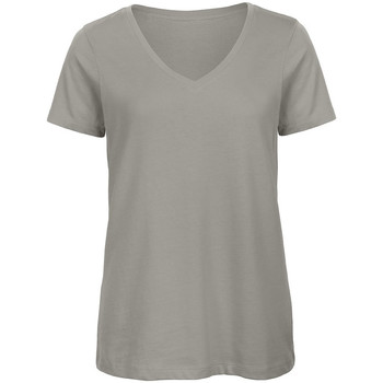 Textiel Dames T-shirts korte mouwen B And C Organic Lichtgrijs