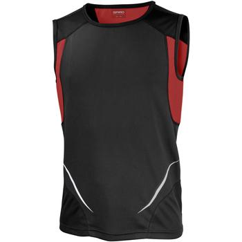 Textiel Heren Mouwloze tops Spiro Athletic Zwart/Rood
