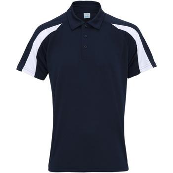 Textiel Heren Polo's korte mouwen Awdis JC043 Franse marine / Arctisch Wit