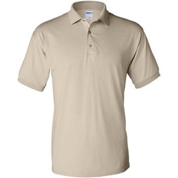 Textiel Heren Polo's korte mouwen Gildan Jersey Zand