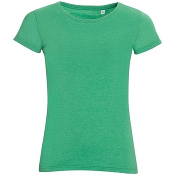 Textiel Dames T-shirts korte mouwen Sols 01181 Heide Groen