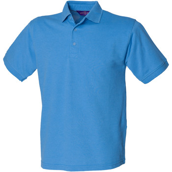 Textiel Heren Polo's korte mouwen Henbury HB400 Middenblauw