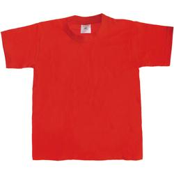 Textiel Kinderen T-shirts korte mouwen B And C Exact 190 Rood