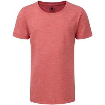 Textiel Meisjes T-shirts korte mouwen Russell R165G Rode mergel
