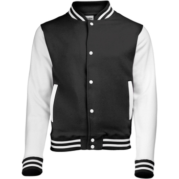 Textiel Kinderen Wind jackets Awdis Varsity Jet Zwart/Wit
