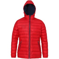 Textiel Dames Dons gevoerde jassen 2786 Hooded Rood/Zwaar