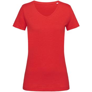 Textiel Dames T-shirts korte mouwen Stedman Stars  Rood